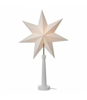 Dekoracje- świecznik papier. gwiazda, na żarówkę E14, biały EMOS ZY2213