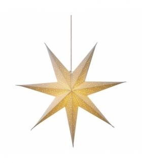 Dekoracje - papierowa gwiazda 75cm na żarówkę E14, biała EMOS ZY2250