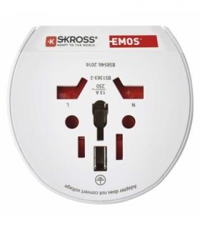 Adapter podróżny do Europy Centralnej biały EMOS P0055N