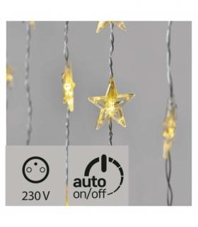 Dekoracje- 30 LED kurtyna migające gwiazdki IP44 WW, timer EMOS ZY2263