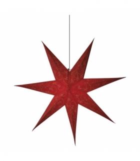 Dekoracje - papierowa gwiazda 75cm na żarówkę E14, czerwona EMOS ZY2249