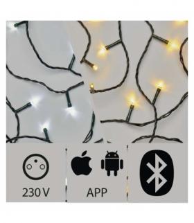Lampki choinkowe APP 200 LED 20m IP44 CW/WW, zielony, timer EMOS ZY2189