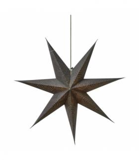 Dekoracje - papierowa gwiazda 75cm na żarówkę E14, szara EMOS ZY2248