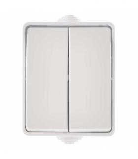 Wyłącznik natynkowy 2P IP54 biały EMOS A1398.4