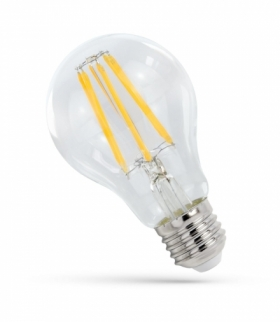 LED GLS E-27 230V 9W FILAMENT COG neutralna CLEAR SPECTRUM WOJ+14339