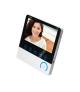 """Bezsłuchawkowy zestaw wideo domofonowy CETI, monitor 7"""" z kartą pamięci TF, czytnikiem kart i breloków, IP44"""
