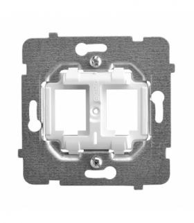 ARIA M1GPK Mechanizm gniazd prostych typu Keystone Biały