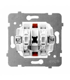 ARIA M1ŁP-10/B Mechanizm łącznika podwójnego schodowego Biały