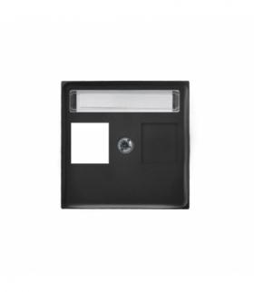 ARIA PGPK-1U/33 Pokrywa gniazda pojedynczego prosta typu Keystone Czarny metalik