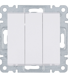 lumina Łącznik 3-klawiszowy, 3-biegunowy, biały Hager WL0070