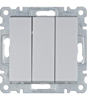 lumina Łącznik 3-klawiszowy, 3-biegunowy, srebrny Hager WL0072
