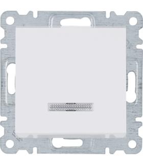 lumina Łącznik kontrolny 1-biegunowy, biały Hager WL0210