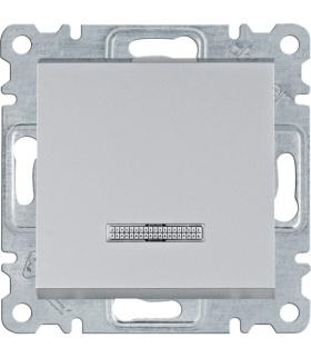lumina Łącznik kontrolny 1-biegunowy, srebrny Hager WL0212