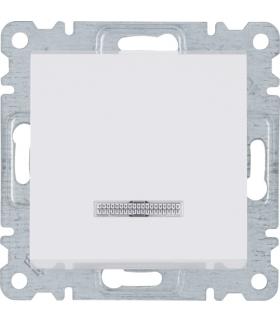 lumina Łącznik kontrolny uniwersalny/schodowy, biały Hager WL0220