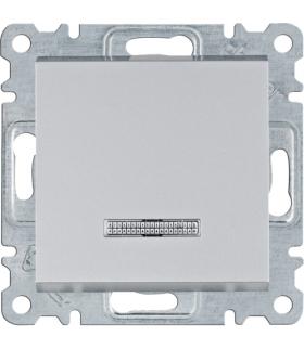 lumina Łącznik kontrolny uniwersalny/schodowy, srebrny Hager WL0222