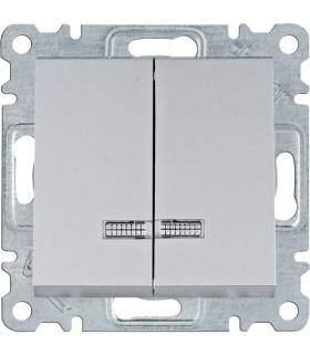 lumina Łącznik kontrolny seryjny/świecznikowy, srebrny Hager WL0242