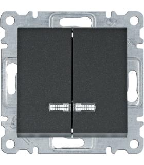 lumina Łącznik kontrolny seryjny/świecznikowy, czarny Hager WL0243