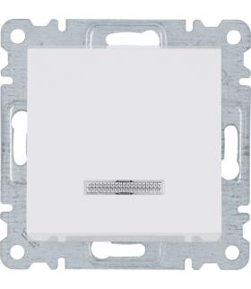 lumina Łącznik zwierny z podświetleniem, biały Hager WL0410