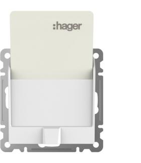 lumina Łącznik na kartę hotelową, biały Hager WL0510