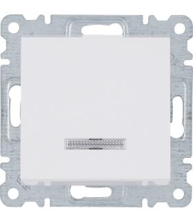 lumina Łącznik kontrolny 1-biegunowy, biały 16A/250VAC Hager WL0610