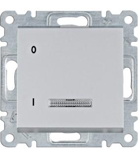 lumina Łącznik kontrolny 1-biegunowy, srebrny 16A/250VAC Hager WL0612