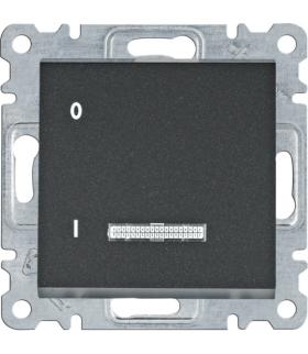 lumina Łącznik kontrolny 1-biegunowy, czarny 16A/250VAC Hager WL0613