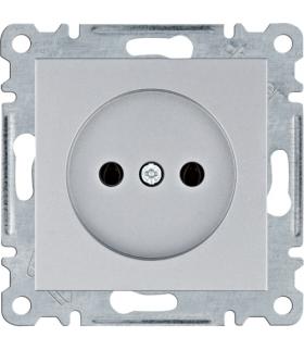 lumina Gniazdo zasilające bez uziemienia, 16A/250VAC, srebrny Hager WL1012