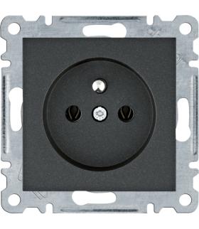 lumina Gniazdo zasilające z uziemieniem, 16A/250VAC, czarny Hager WL1023