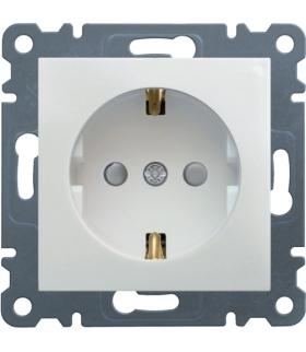 lumina Gniazdo SCHUKO z przesłoną styków, biały Hager WL1060