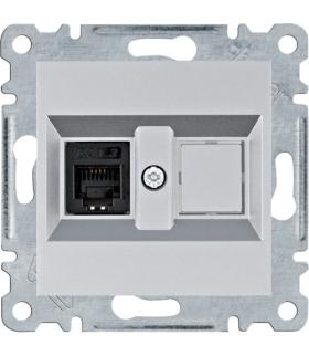 lumina Gniazdo telefoniczne pojedyncze RJ11, srebrny Hager WL2012
