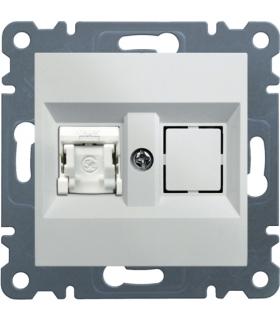 lumina Gniazdo komputerowe pojedyncze RJ45 kat.5e UTP, biały Hager WL2110