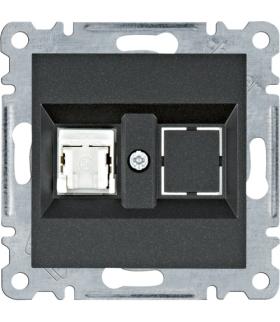 lumina Gniazdo komputerowe pojedyncze RJ45 kat.5e UTP, czarny Hager WL2113
