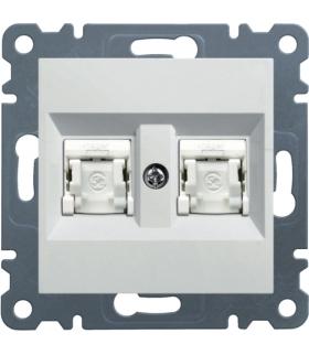lumina Gniazdo komputerowe podwójne RJ45 kat.5e UTP, biały Hager WL2120