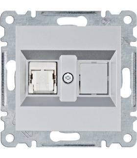 lumina Gniazdo komputerowe pojedyczne RJ45 kat.5e FTP, srebrny Hager WL2132