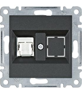 lumina Gniazdo komputerowe pojedyczne RJ45 kat.5e FTP, czarny Hager WL2133