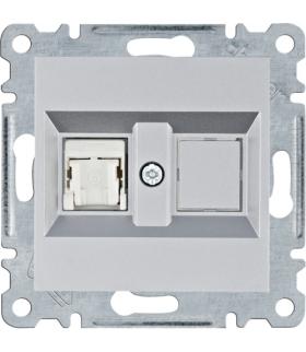 lumina Gniazdo komputerowe pojedyczne RJ45 kat.6 UTP, srebrny Hager WL2152