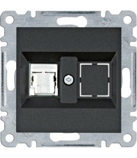 lumina Gniazdo komputerowe pojedyczne RJ45 kat.6 UTP, czarny Hager WL2153