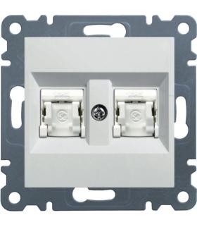 lumina Gniazdo komputerowe podwójne RJ45 kat.6 UTP, biały Hager WL2160