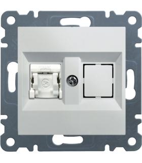 lumina Gniazdo komputerowe pojedyczne RJ45 kat.6 FTP, biały Hager WL2170