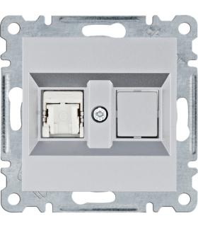 lumina Gniazdo komputerowe pojedyczne RJ45 kat.6 FTP, srebrny Hager WL2172