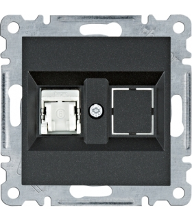 lumina Gniazdo komputerowe pojedyczne RJ45 kat.6 FTP, czarny Hager WL2173