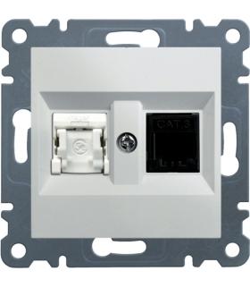 lumina Gniazdo RJ11/12 + RJ45, biały Hager WL2210