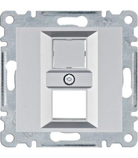 lumina Płytka podwójna Keystone Jack, srebrny Hager WL2322