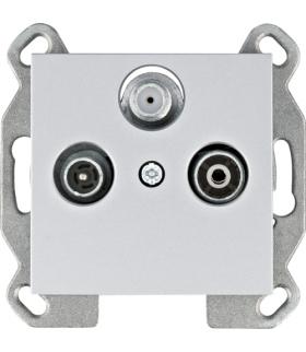 lumina Gniazdo RTV-SAT końcowe, srebrny Hager WL3112