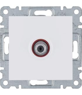 lumina Gniazdo pojedyncze SAT dla instalacji indywidualnych, biały Hager WL3230