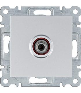 lumina Gniazdo poj. SAT dla instalacji indywidualnych, srebrny Hager WL3232