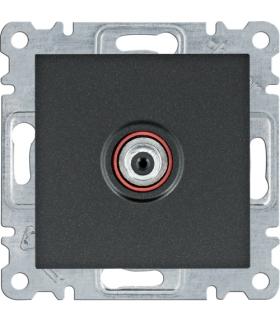 lumina Gniazdo poj. SAT dla instalacji indywidualnych, czarny Hager WL3233