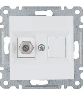 lumina Złącze pojedyncze typu F, biały Hager WL3250