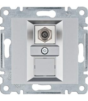 lumina Złącze pojedyncze typu F, srebrny Hager WL3252