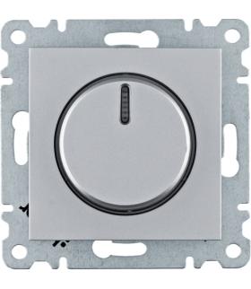 lumina Ściemniacz obrotowy 60-600W, srebrny Hager WL4012